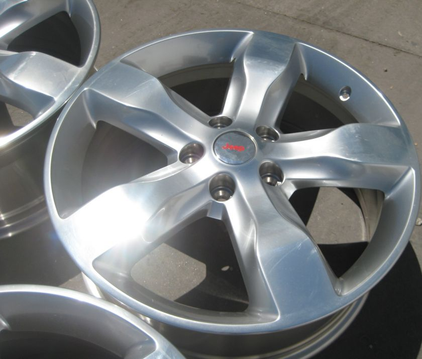 FACTORY JEEP GRAND CHEROKEE OEM WHEELS RIMS POLISHED   SET OF 4